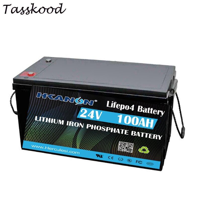 Lifepo4-batería de litio recargable, 2kw, 24V, 100AH, para ups, de ciclo profundo,...