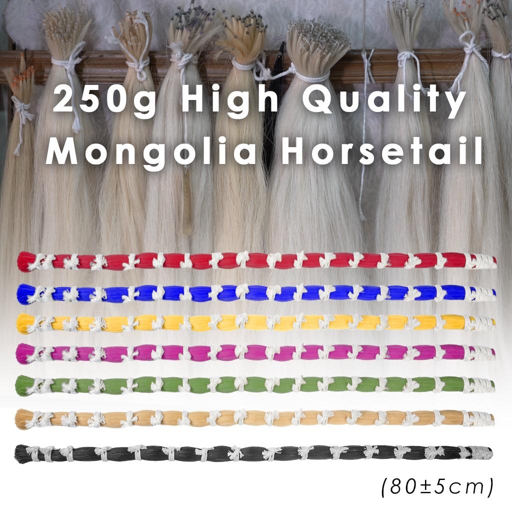 NAOMI 1 Bulk 250g 80cm Length Red Bundle Dyed Quaity Horsehair Mongolia Horse Hair For Violin Viola Cello Bass Bow enlarge