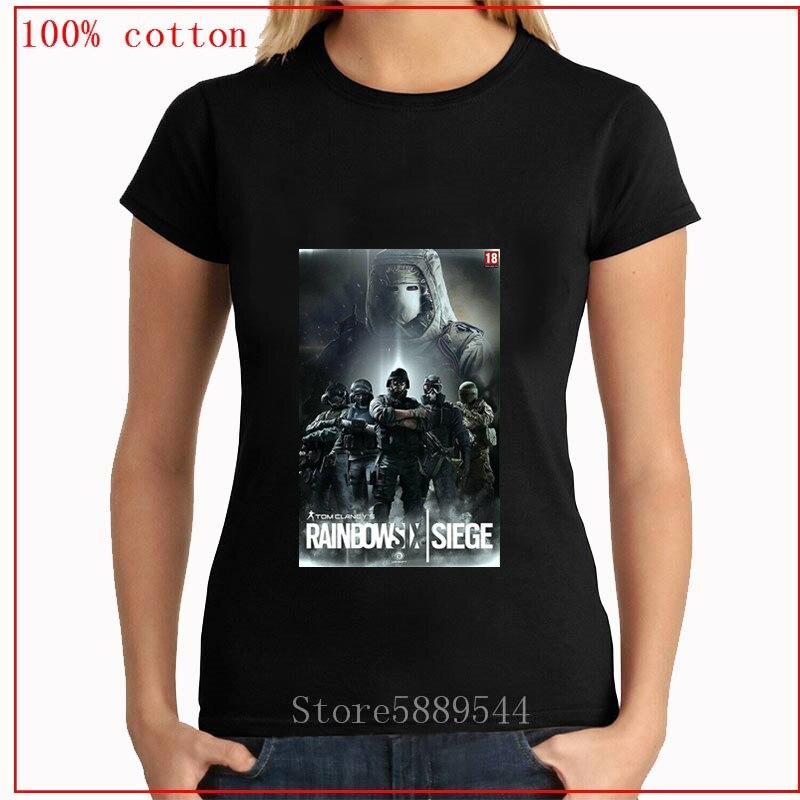 2020 Arco Iris six siege womenT-shirt o-cuello de manga corta verano Casual moda mujer camiseta señora tee