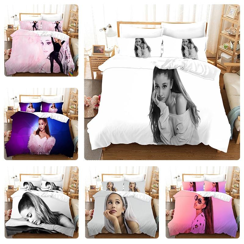 غراندي الفراش مجموعات المغني الأمريكي لحاف غطاء السرير حاف الغطاء كيس وسادة 2-3 قطع مجموعات الأطفال الكبار