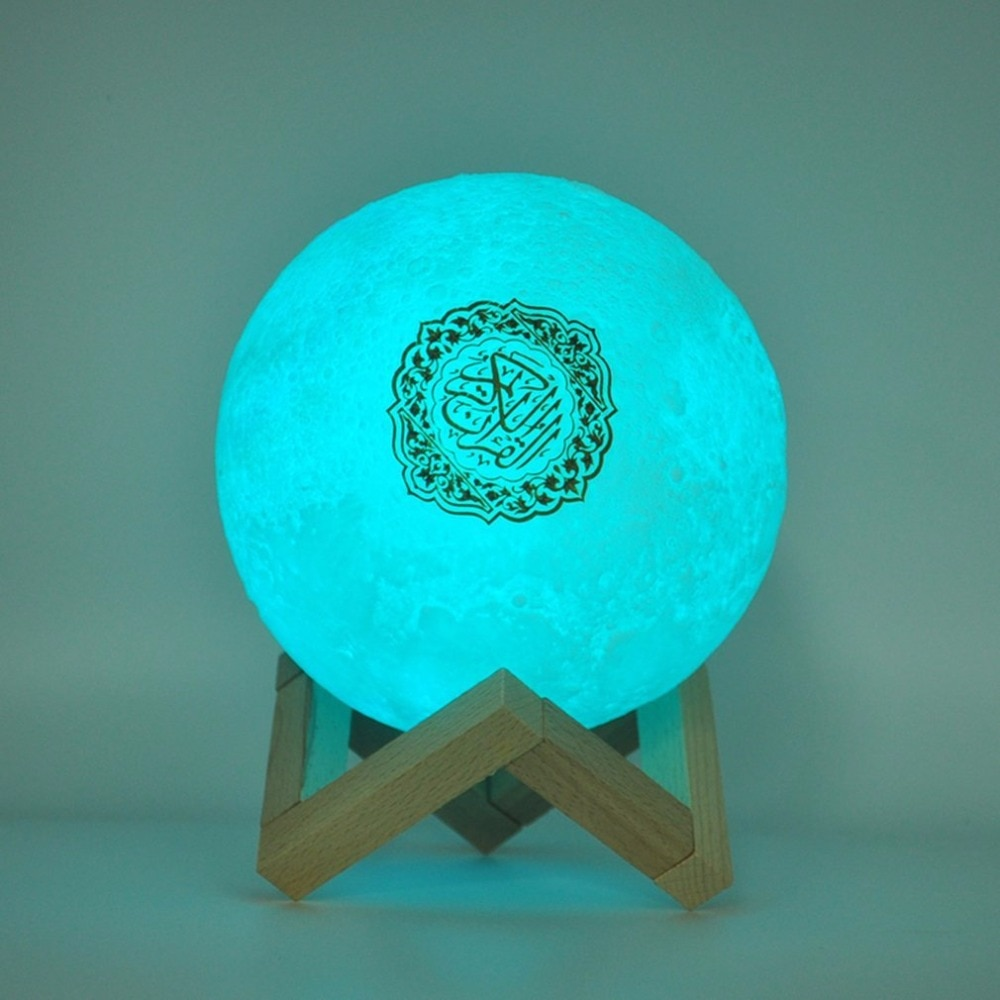Bluetooth Speakers Wireless Muslim Night Light Quran speakers 3D Moon With remote control quran speaekr Light Koran Touch Lamp