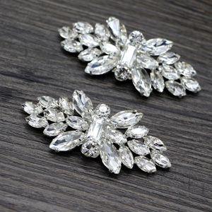 2pcs Shoe Clip Wedding Shoes High Heel Women Bride Decoration Rhinestone Shiny Decorative Clips Charm Buckle 85LB