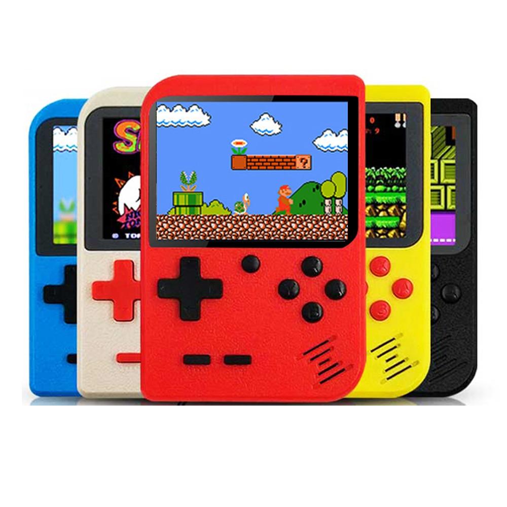 Novo 400 em 1 console de jogos de vídeo embutido 8 bits clássico retro jogos de vídeo mini bolso retroid fc jogadores de jogos de mão brinquedo tetris