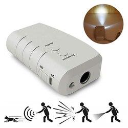 Портативный светодиодный Ультразвуковой Отпугиватель собак дрессировочное устройство против лая уличная собачья кора контроль тренировочное оборудование Товары для домашних животных
