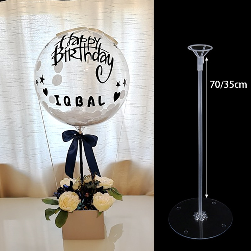 1/3/5Pcs Birthday Party Deco Balloon Stand Wedding Table Decoration Ballon Holder Column Globos Stand Base Home accessory