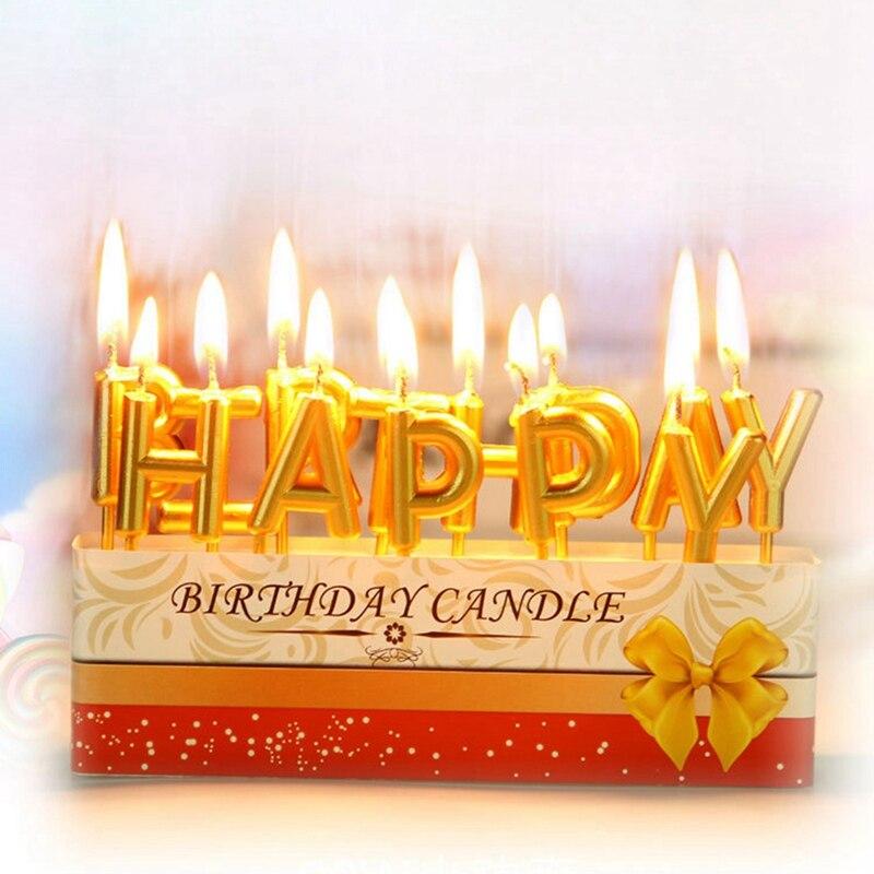 Velas para fiesta de cumpleaños con letras de feliz cumpleaños coloridas para fiesta de cumpleaños, preciosas velas de cumpleaños para hornear en la cocina