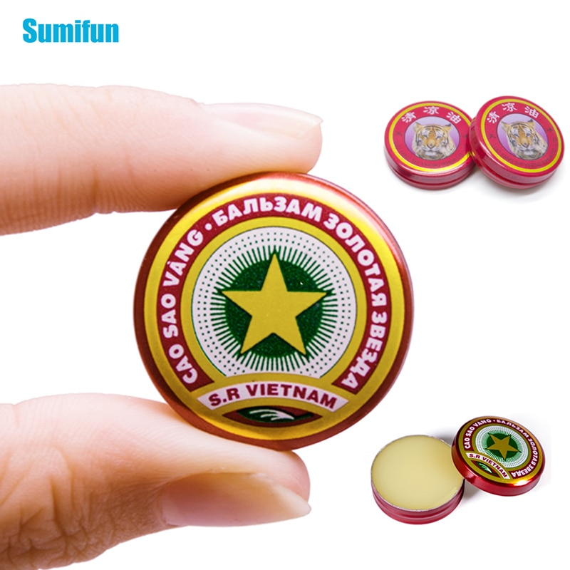 2 Types of Tiger Balm and Vietnam Gold Tower Ointment Cold Headache Stomachache Dizziness Heat Stroke Insect Stings Herbal Oil недорого