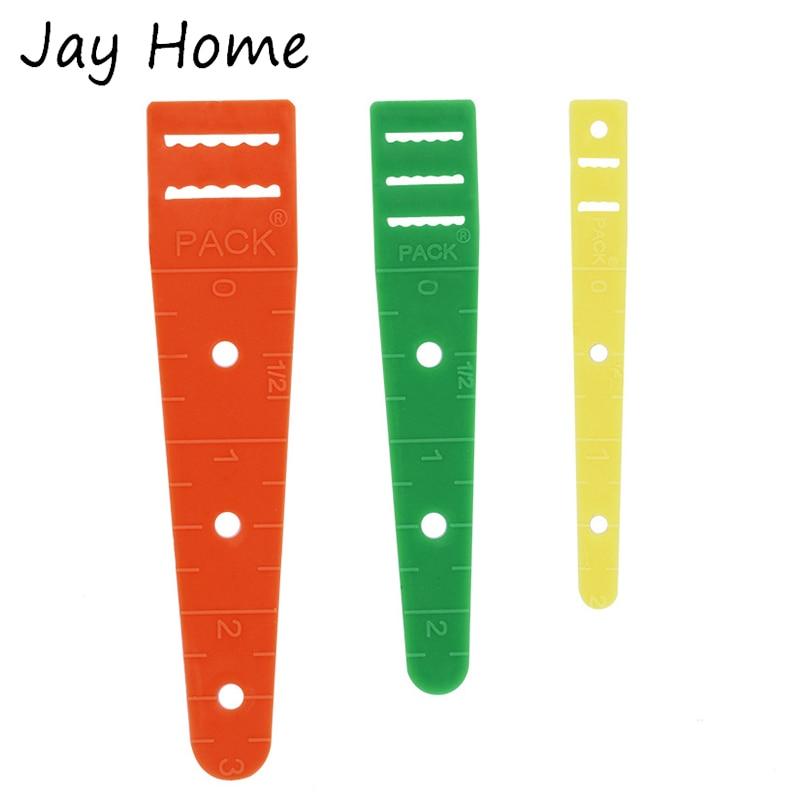 3 uds guías elásticas de plástico deslizan el enhebrador usan herramientas de banda elástica enhebrando la cuerda elástica usando suministros de costura DIY