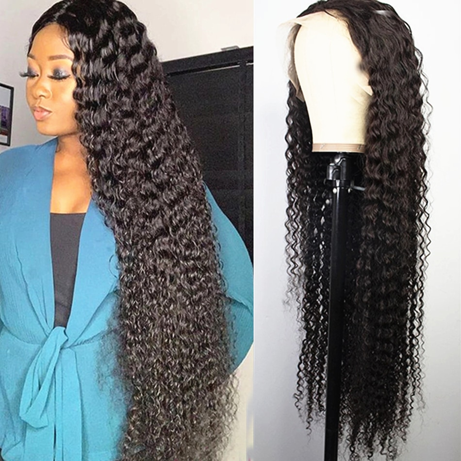 Full Hd Lace Frontal Wig Water Wave Lace Front Wig Bob Deep Wave Frontal Wig 40 Inch Wet and Wavy Curly Human Hair For Women