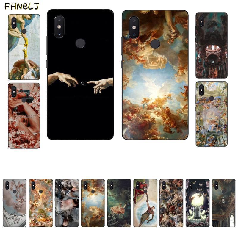 Fhnblj palácio de versalhes a criação de adam arte telefone estojo para xiaomi mi 5 6 plus 6x8 8se 8lite 9 9se 5x10 pro