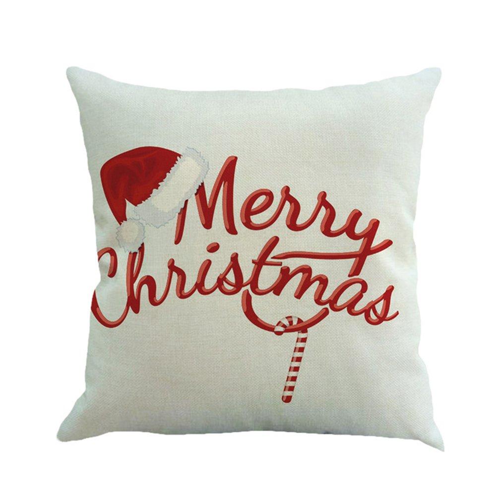 Deixe neve natal estilo capa de almofada feliz natal! Papai noel meias balão casa almofadas decorativas cobrir nórdico