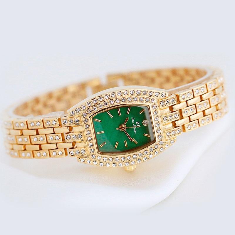 Gold Silver Women Watch Famous Luxury Brands Crystal Diamond Watch Fashion Ladies Quartz Wrist Watch Bracelet Gift Relogio enlarge