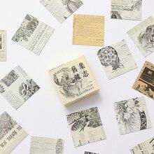 45 unids/caja Vintage revista pegatinas creativo Scrapbooking diario cuaderno planificador pegatinas escuela suministros de papelería de oficina