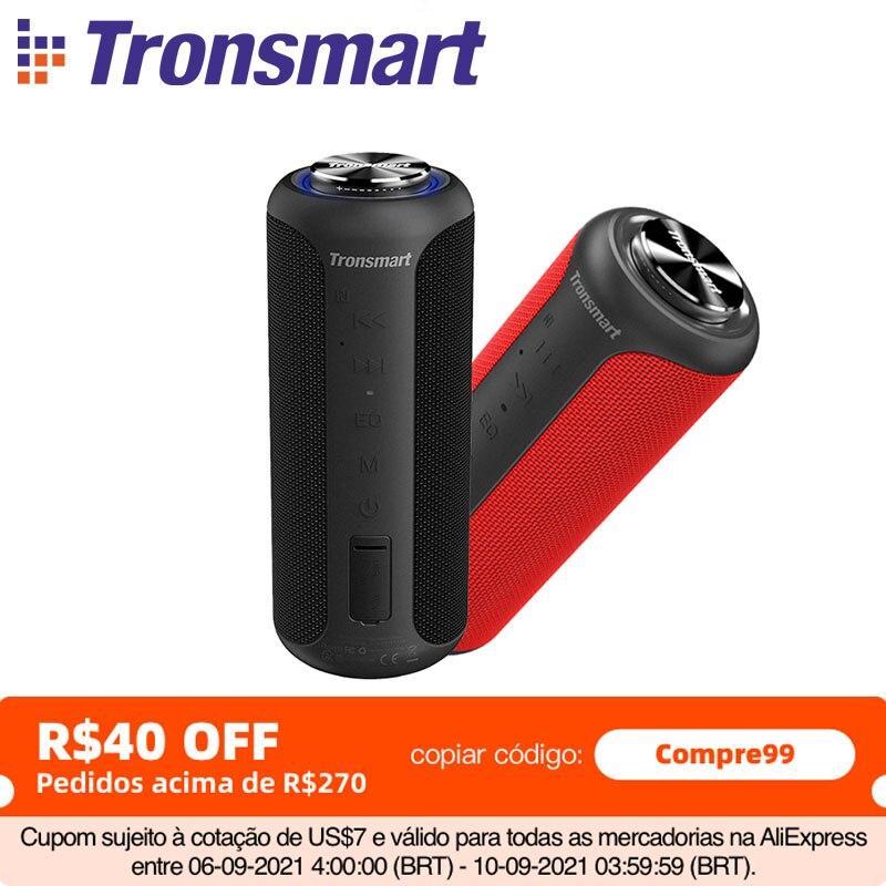 Tronsmart T6 Plus (Upgraded Edition) Bluetooth 5.0 Speaker 40W Portable Speaker IPX6 Column with NFC,TF Card,USB Flash Drive