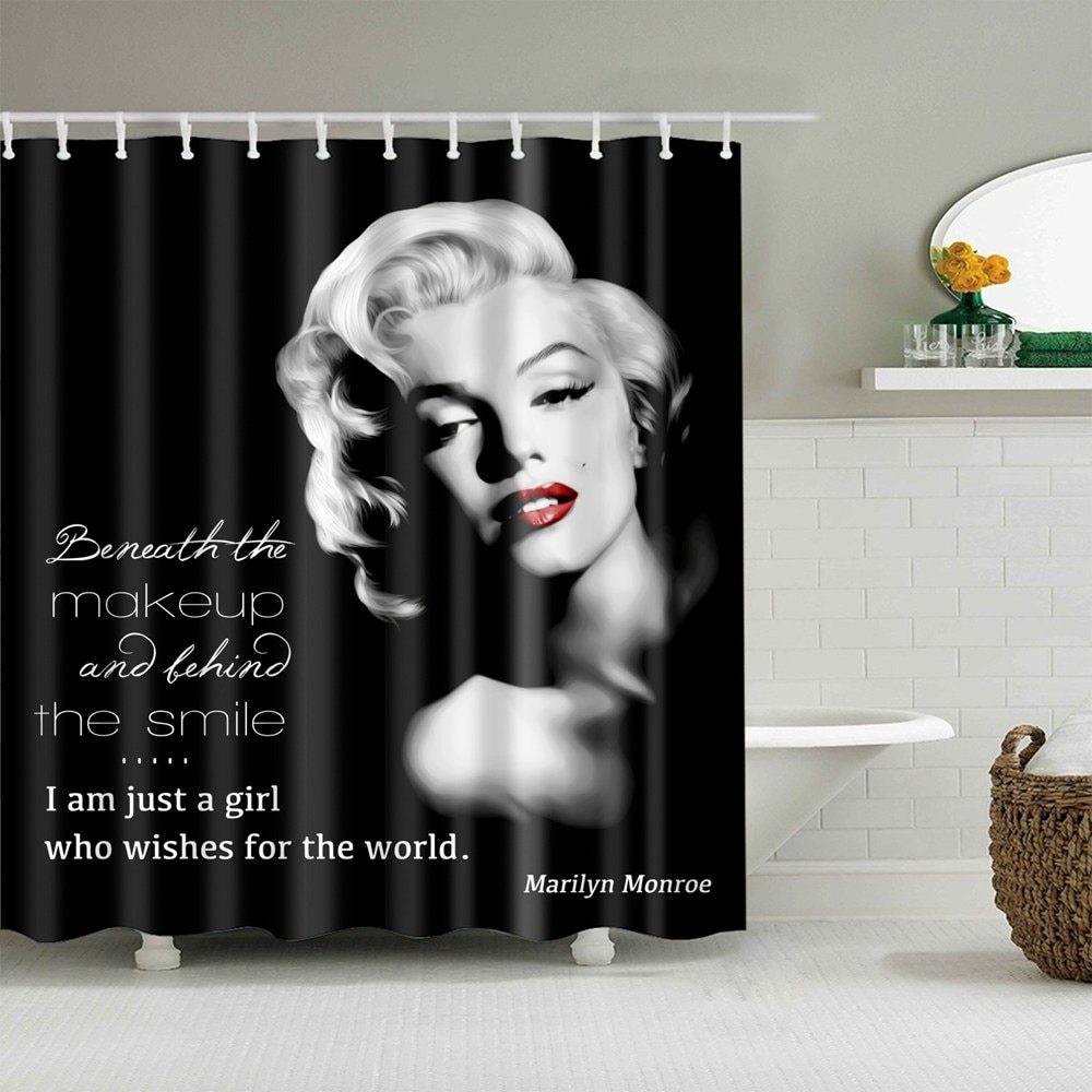 Dafield, cortina de baño Sexy para mujer, cortina de ducha de poliéster impermeable