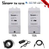 Sonoff     commutateur Wifi intelligent TH16 TH10 10A 16A  pour moniteur eWelink  automatisation de la temperature et de lhumidite  avec Alexa Google Home Assistant