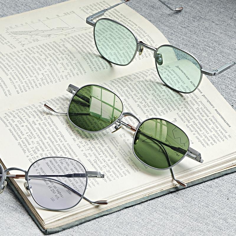 نظارات شمسية من التيتانيوم الخفيف للغاية ، نظارات شمسية مربعة ملونة ، عصرية ، للقيادة ، في الهواء الطلق ، للرجال ، 2020