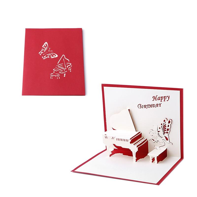 3D Up Greeting Card Handmade Happy Birthday Merry Christmas Card N58C