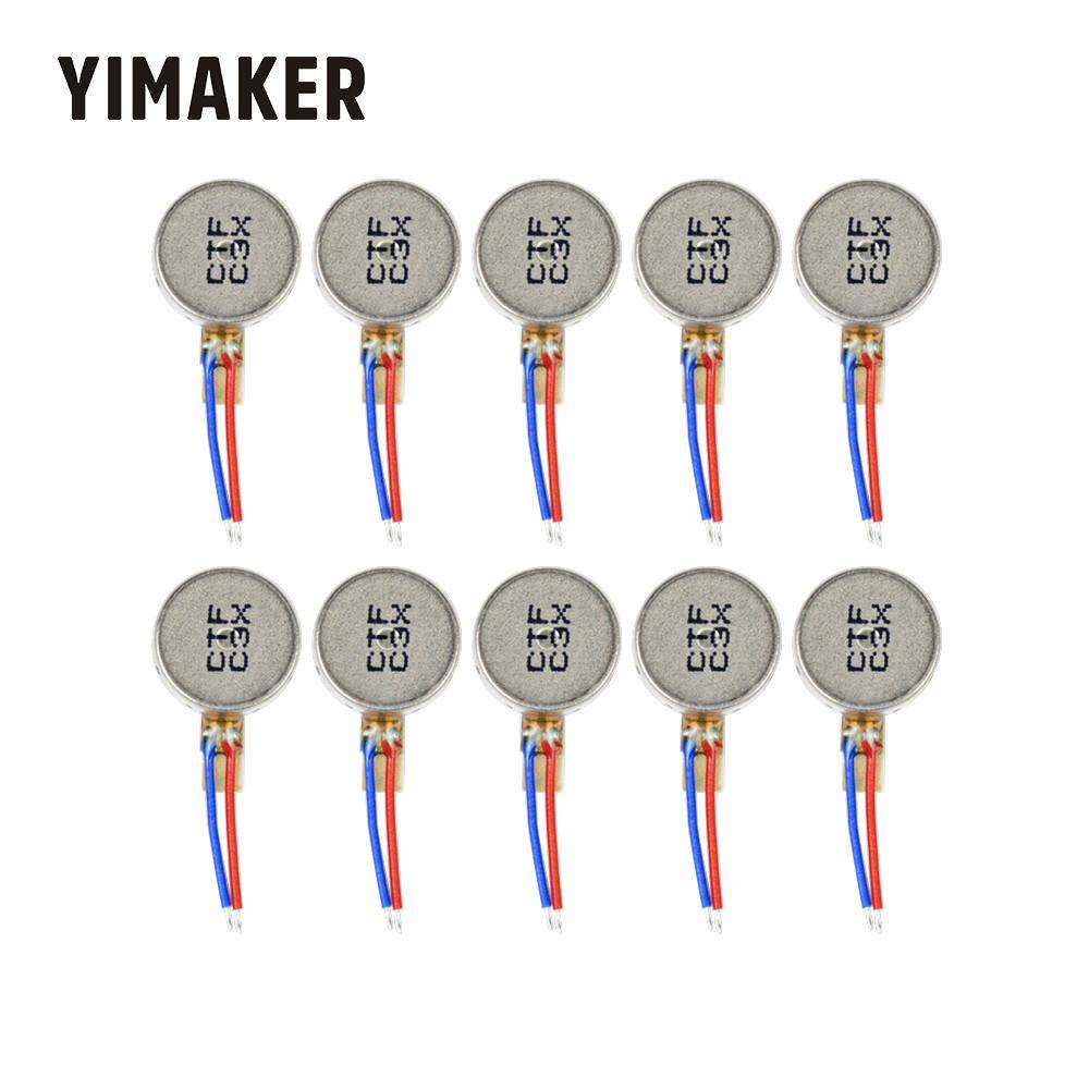 Yimaker 10 pces mini motor de vibração DC3V-4.2V 0930 botão liso-tipo moteur para dispositivos domésticos tablet do telefone móvel
