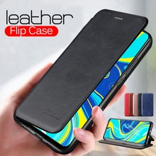 Luxury Leather Flip Magnetic Case For Xiaomi Redmi Note 9 9S 8 Pro 8T 7 6 5 Wallet Stand Phone Cover