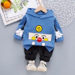 Spring Autumn Baby Boys/Girls Clothing Sets Cartoon Toddler Boys Girls Shirt Coat+Pants 2pc Cotton Suit Kids Tracksuit Clothes