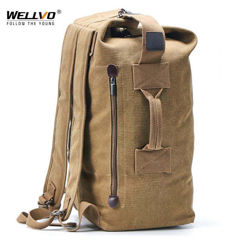 Большая мужская дорожная сумка, рюкзак для альпинизма, мужской багаж, холст, сумка на плечо, армейские сумки для мальчиков, мужские рюкзаки, ...
