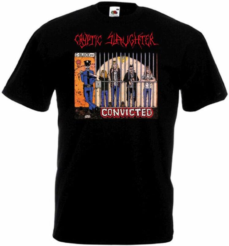 Cryptic Slaughter-Camiseta condensada póster negro todas las tallas S...5XL