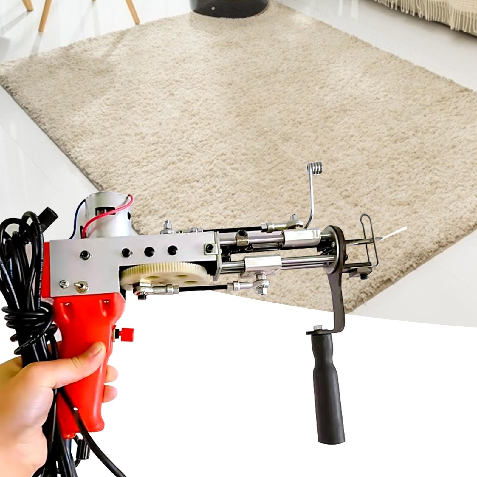 110V US Plug Electric Carpet Sewing Machine Cut Pile Upgraded Red Tufting Gun Rug Weaving Flocking Power Tool Carpet Weaving enlarge