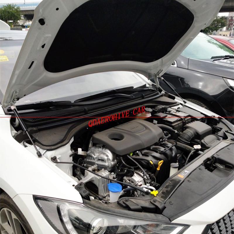 Для Hyundai Elite i20 (GB) 2014-2019 крышка переднего капота автомобиля из углеродного волокна Модифицированная газовая стойка Амортизатор