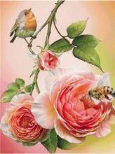 5D diamant peinture pleine perceuse carré fleurs bricolage diamant Art broderie décoration de la maison