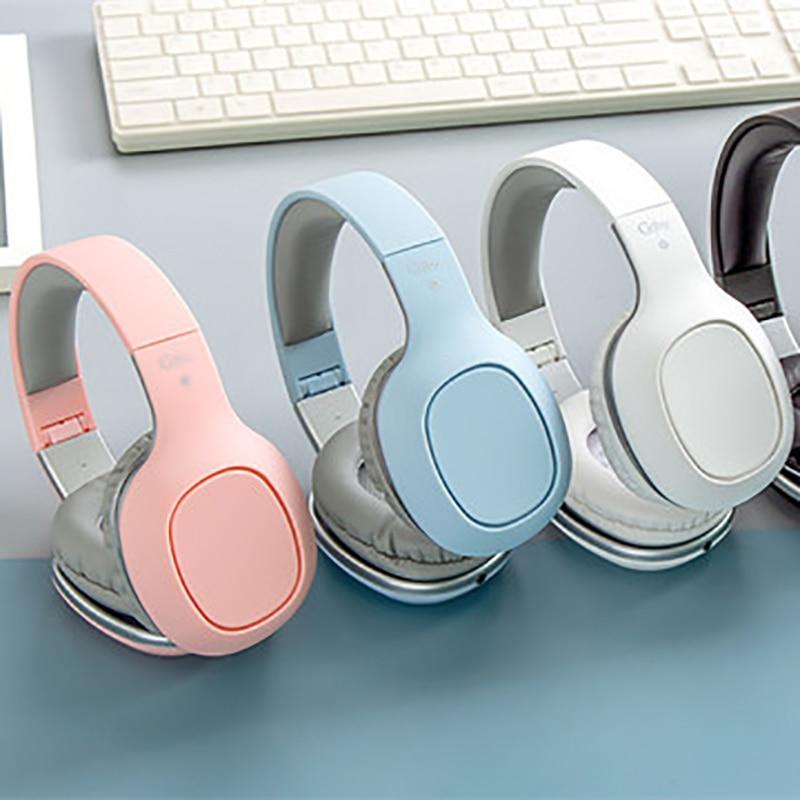 Auriculares Bluetooth auriculares con cancelación de ruido auriculares plegables estéreo bajos auriculares ajustables con micrófono auriculares de cine en casa