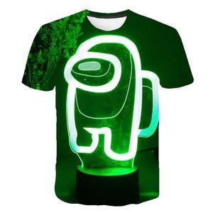 O-Neck Short Sleeve Boys/Girl 3D Print Among Us t shirt Kids Cartoon T-Shirt Teens Clothes Summer Children Clothing 2021 Fashion