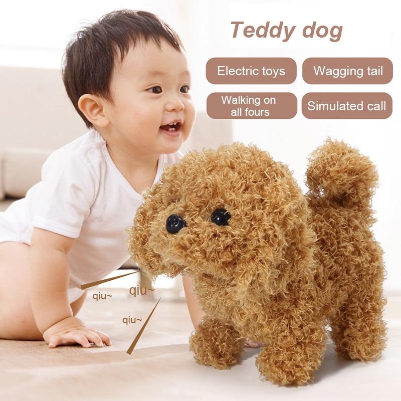 Plush Realistic Plush Simulation Smart Dog Called Walking Plush Toy Electric Plush Robot Dog Toddler