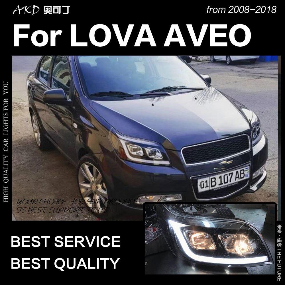 AKD estilo de coche para Chevrolet Aveo faros 2008-2012 Lova LED faro Nexia DRL escondió la cabeza de la lámpara Bi xenón Beam