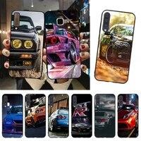 yndfcnb cool sports car design black cell phone case for samsung a51 a71 a40 a50 a70 a10 a20 a30 a6 a7 a8 a9