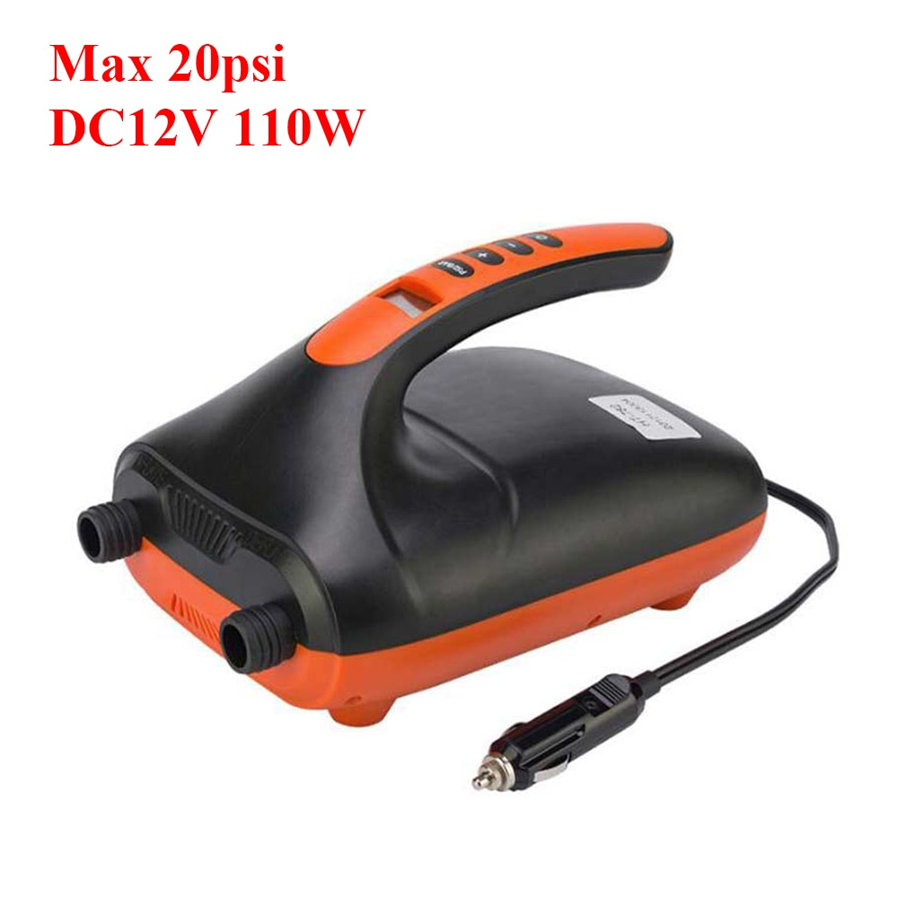 SUP 20 PSI Dual Stage Electric Air Pump 12V 110W Intelligent Inflatable Pump for Inflatable SUP Stand Up Paddle Surfing Board