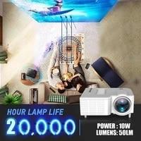 Mini projecteur video Portable LED WiFi UC28C  16 7M  pour Home cinema  jeu  bureau