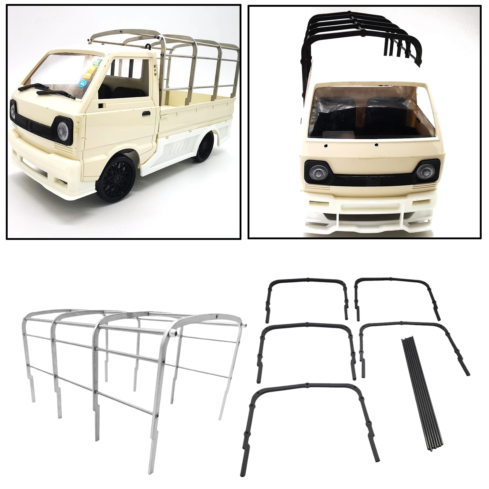 Durable High Railing Hurdle for WPL D12 1/10 RC Car Upgrade R489 Parts Accs enlarge