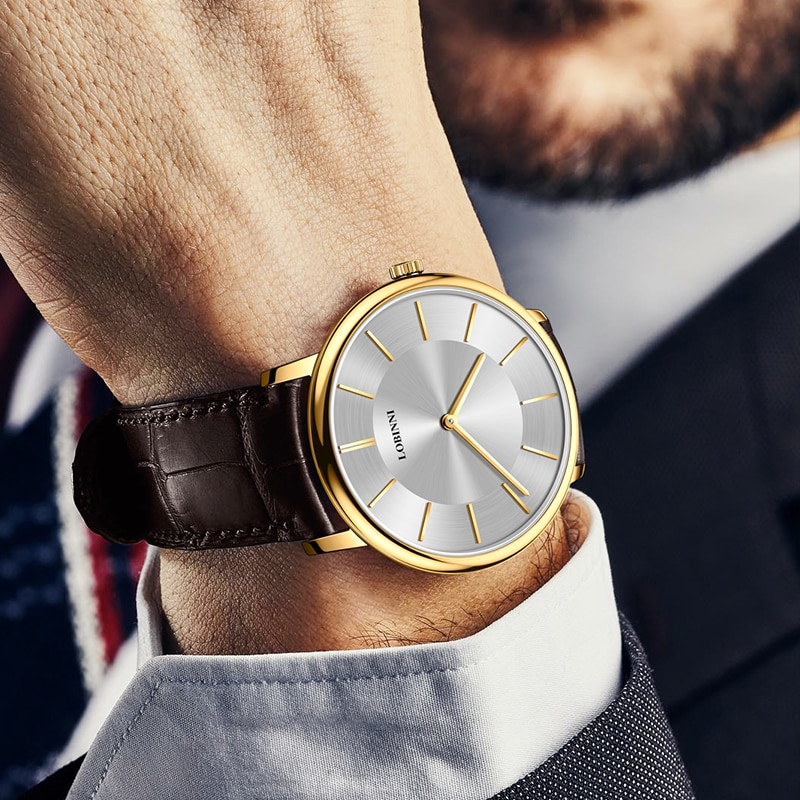 New Switzerland Luxury Brand LOBINNI Women's Watches 6 mm Ultra-thin Quartz Watch Women Sapphire Waterproof Couples Clock L3013W enlarge