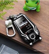 New Zinc Alloy Car LED Display Key Cover Case for BMW 5 7 series G11 G12 G30 G31 G32 i8 I12 I15 G01 X3 G02 X4 G05 X5 G07 X7