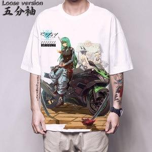 Anime Arknights T Shirt Game Arknights Texas Hoshiguma Cosplay Costumes Short Sleeve Unisex Loose Tee shirt Harajuku fashion Top