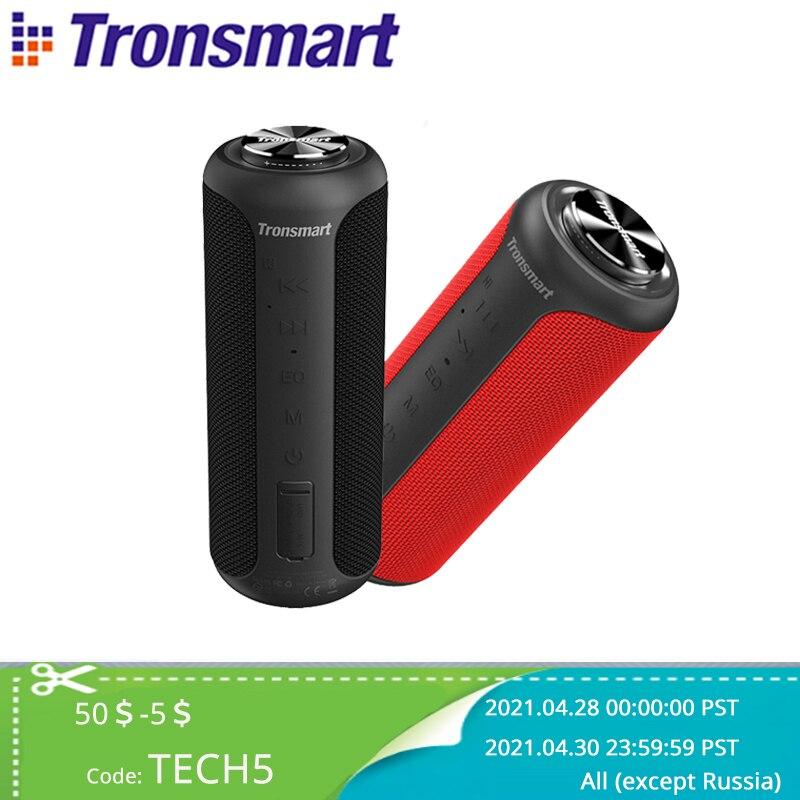 aliexpress - Tronsmart T6 Plus (Upgraded Edition) Bluetooth 5.0 Speaker 40W Portable TWS Speaker IPX6 Column with NFC,TF Card,USB Flash Drive