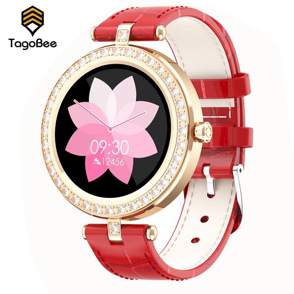 TagoBee-Reloj Inteligente para Mujer, pulsera con control del ritmo cardíaco y de...