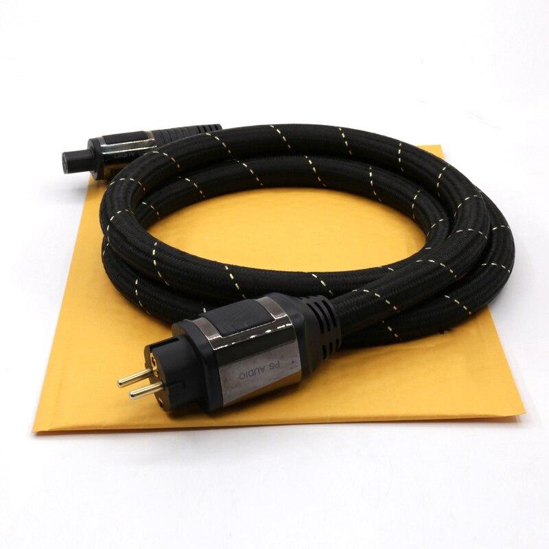 Бесплатная доставка Высокое качество PS AC-12 EUR Schuko Кабель питания hifi шнур питания Schuko шнур питания с европейской версии