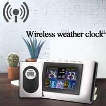 Cyfrowa bezprzewodowa stacja pogodowa wskaźnik temperatury i wilgotności wodoodporny wewnętrzny zewnętrzny termometr higrometrowy z czujnikiem
