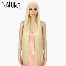 Nature Wig 38 inch Straight Long Synthetic Wigs For Black Women High Temperature Hair Ombre 613 Red Cosplay Wigs Synthetic Hair