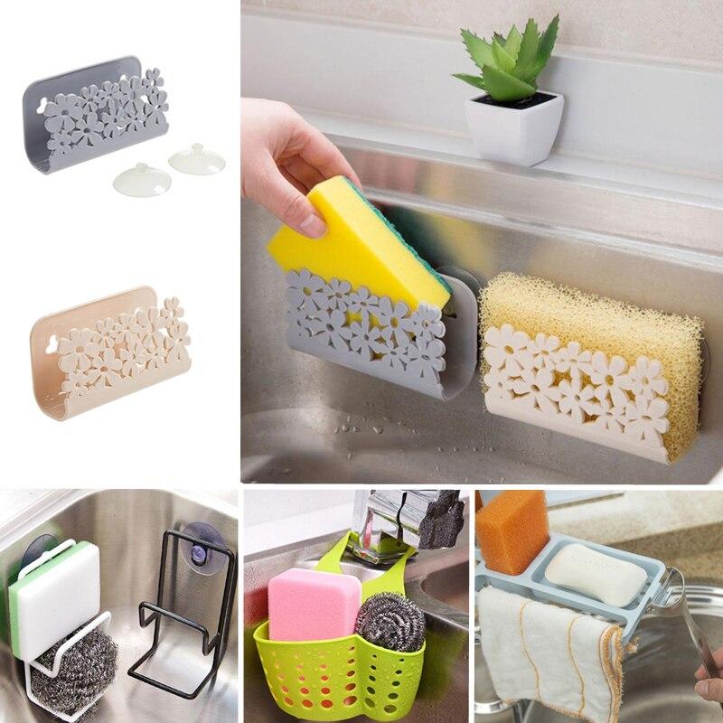 Pia da cozinha prateleira esponja dreno rack de armazenamento titular pia da cozinha sabão rack escorredor acessórios do banheiro organizador