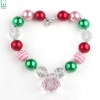 wholesale 5pcs latest princess chunky necklacekids girls bubble bead necklace for diy jewelry free shipment