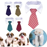 pet dog cat formal necktie tuxedo bow tie black and red stripes checkered collar pet accessories suit for small medium dogs cats