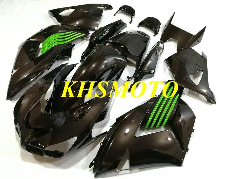 Injection mold Fairing kit for KAWASAKI Ninja ZX14R 06 07 08 11 ZX 14R 2006 2007 2011 ABS gloss black Fairings set+gifts KT21